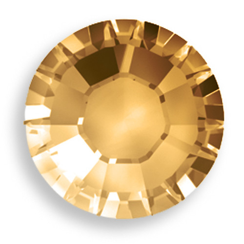 Light Colorado Topaz Swarovski Flat Back Crystals, Article 2028, SS 40, Non-HotFix (Qty: 12)