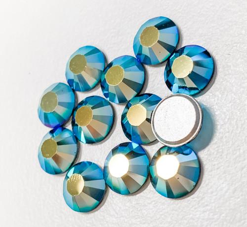 Jet AB Swarovski Flat Back Crystals, Article 2028, SS 40, Non-HotFix (Qty: 12)