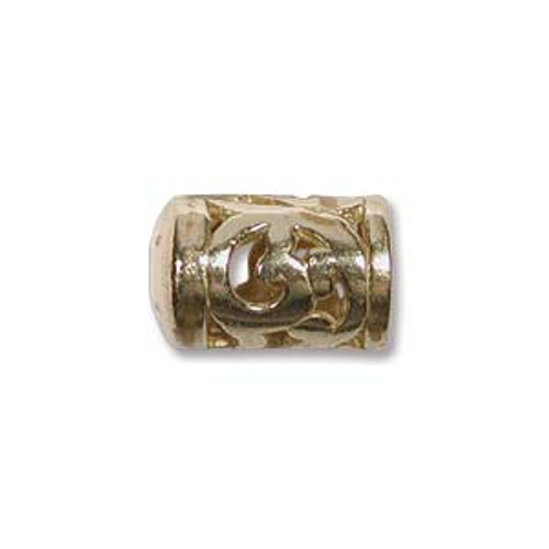 Filigree End Caps, Brass, ID 5mm (Qty: 2)
