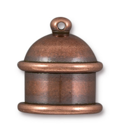 TierraCast Pagoda End Caps, Antique Copper, ID: 10mm (Qty: 2)