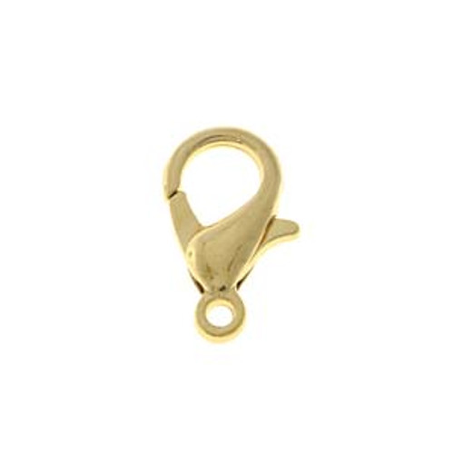 Lobster Claw Clasp, Gold Tone, 12mm (Qty: 3)