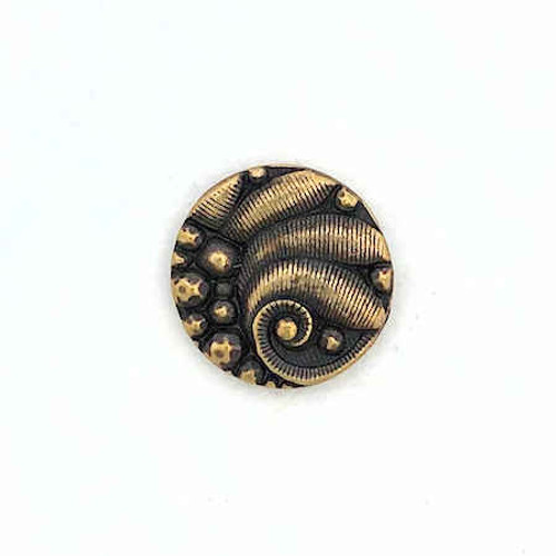 TierraCast Small Round Button, Oxidized Brass Plated (12.5mm)