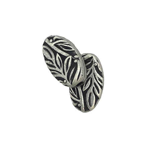 Botanical Bead, Antique Pewter (7.8 x 12.9mm) (Qty: 2)
