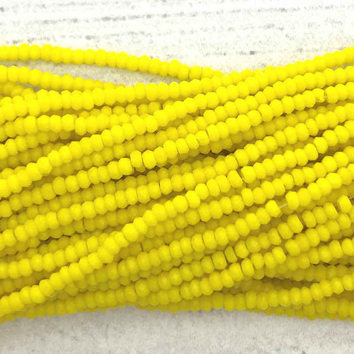 1.5x2mm Crystal Rondelles, Sunny Yellow (Approx. 200 Beads)