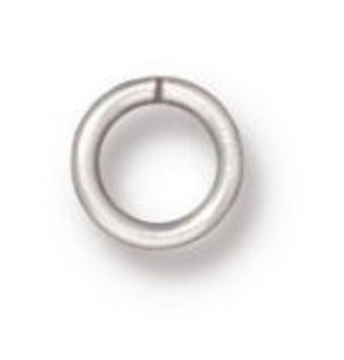 TierraCast 4mm Jump Rings, 20 ga., Silver-Plated (Qty: 50)