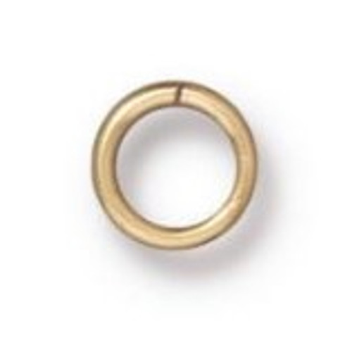 TierraCast 4mm Jump Rings, 20 ga., Gold-Plated (Qty: 50)