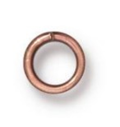 TierraCast 4mm Jump Rings, 20 ga., Copper-Plated (Qty: 50)