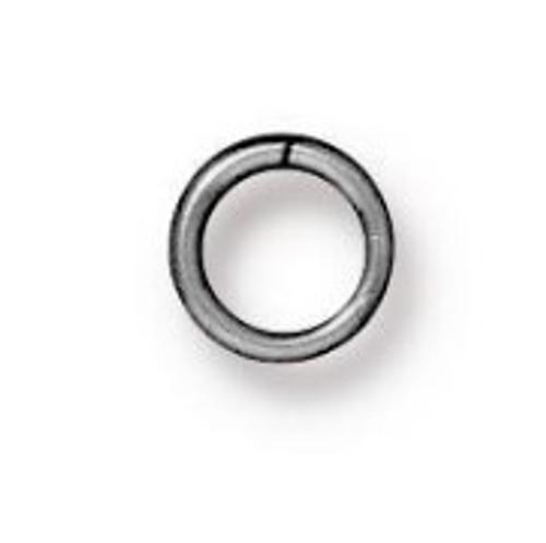 TierraCast 4mm Jump Rings, 20 ga., Rhodium-Plated (Qty: 50)