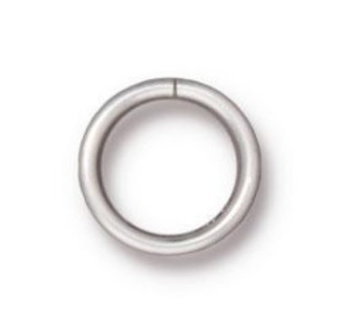 TierraCast 8mm Jump Rings, 18 ga., Silver-Plated (Qty: 10)