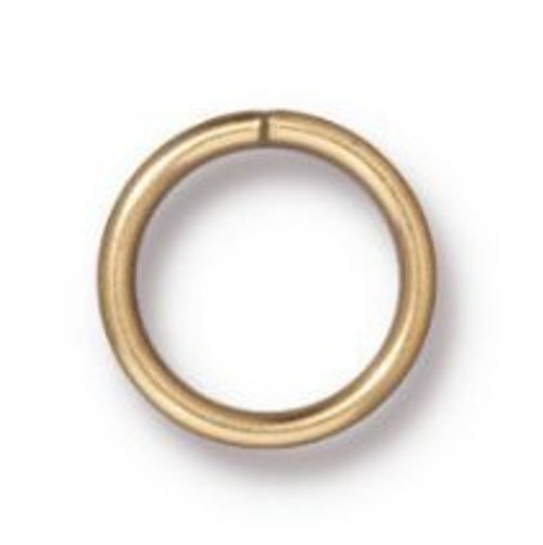 TierraCast 8mm Jump Rings, 18 ga., Gold-Plated (Qty: 10)