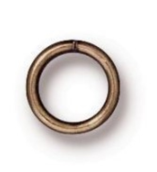 TierraCast 6mm Jump Rings, 19 ga., Oxidized Brass (Qty: 20)