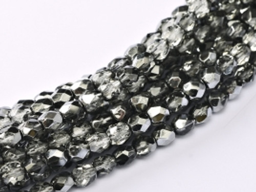 3mm Fire Polish, Earthtone Metallic Ice (Qty: 50)