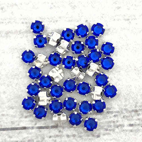 12ss Swarovski Rose Montees - Majestic Blue (Qty: 50)