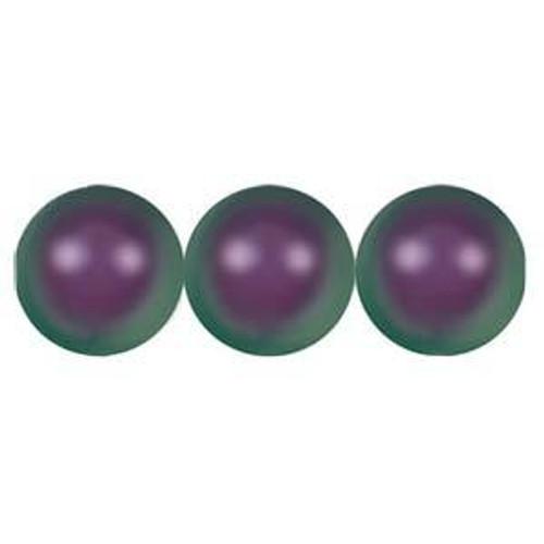 3mm Swarovski Pearls, Iridescent Purple (Qty: 50)