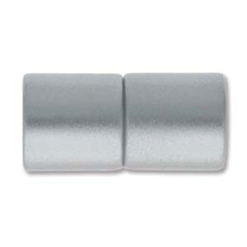 Acrylic Magnetic Clasp, Matte Silver, 21 x 10.5mm, 8mm ID