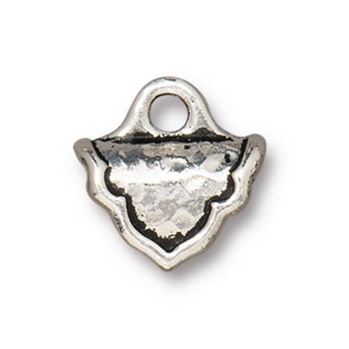 TierraCast Palace Crimp End, Antique Silver Plate (Qty: 2)