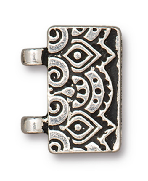TierraCast Temple Stitch-in Magnetic Clasp, Antiqued Silver Plate (Qty: 1)