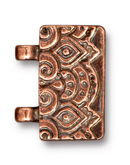 TierraCast Temple Stitch-in Magnetic Clasp, Antiqued Copper Plate (Qty: 1)