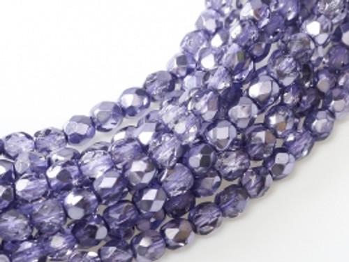 3mm Fire Polish, Violet Metallic Ice (Qty: 50)