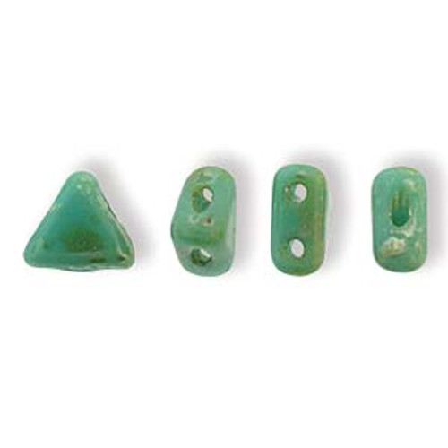 Kheops par Puca Beads, Green Turquoise Picasso (6mm) (Qty: 25)