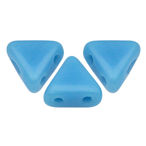 Kheops par Puca Beads, Opaque Blue Turquoise (6mm) (Qty: 25)