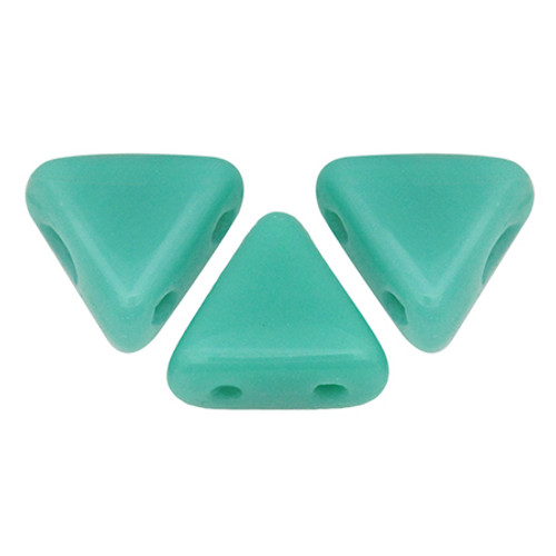 Kheops par Puca Beads, Opaque Green Turquoise (6mm) (Qty: 25)