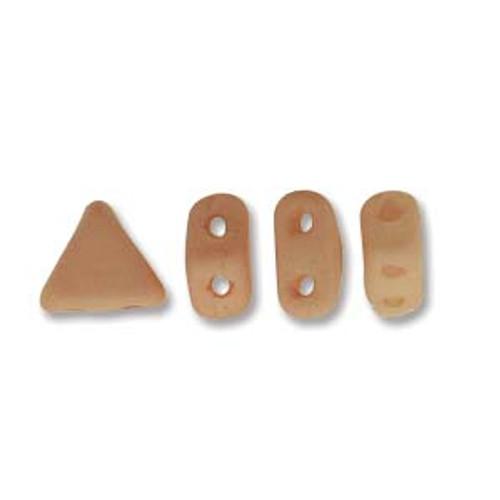 Kheops par Puca Beads, Opaque Light Peach Silk Matte (6mm) (Qty: 25)