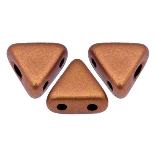 Kheops par Puca Beads, Vintage Copper (Copper Gold Matte) (6mm) (Qty: 25)