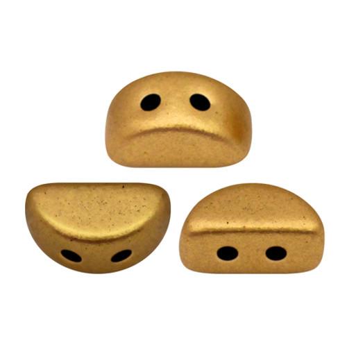 Kos par Puca Beads, Brass Gold (Bronze Gold Matte) (Qty: 25)