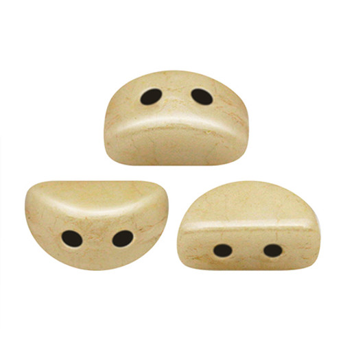 Kos par Puca Beads, Champagne Luster (Opaque Beige Ceramic Look) (Qty: 25)