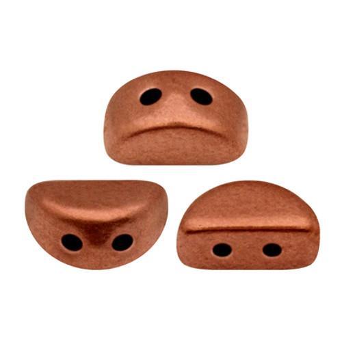 Kos par Puca Beads, Copper (Bronze Red Matte) (Qty: 25)
