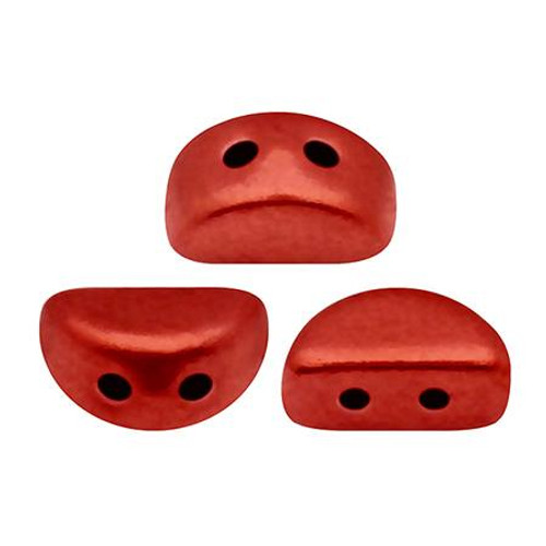 Kos par Puca Beads, Lava Red (Red Metallic Matte) (Qty: 25)