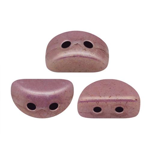 Kos par Puca Beads, Violet Gold Luster (Opaque Mix Violet/Gold Ceramic) (Qty: 25)