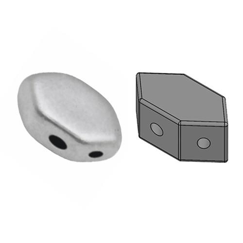 Paros par Puca Beads, Aluminum Silver (Qty: 25)