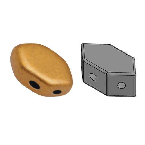 Paros par Puca Beads, Brass Gold (Bronze Gold Matte) (Qty: 25)