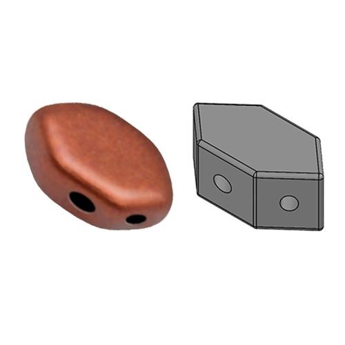 Paros par Puca Beads, Copper (Bronze Red Matte) (Qty: 25)
