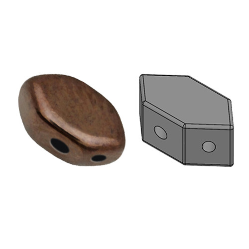 Paros par Puca Beads, Dark Bronze (Qty: 25)