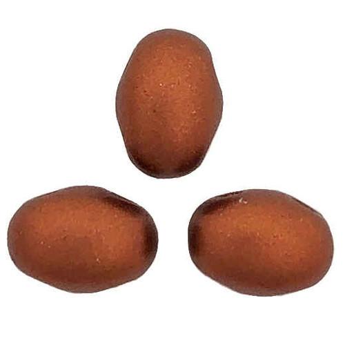 Samos par Puca Beads, Copper (Bronze Red Matte) (Qty: 25)