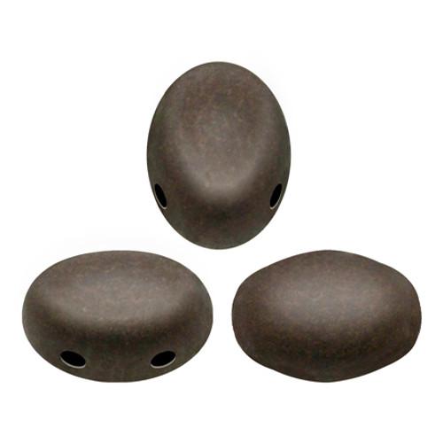 Samos par Puca Beads, Dark Bronze Matte (Qty: 25)
