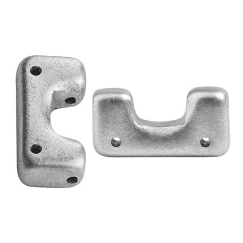 Telos par Puca Beads, Aluminum Silver (Qty: 10)
