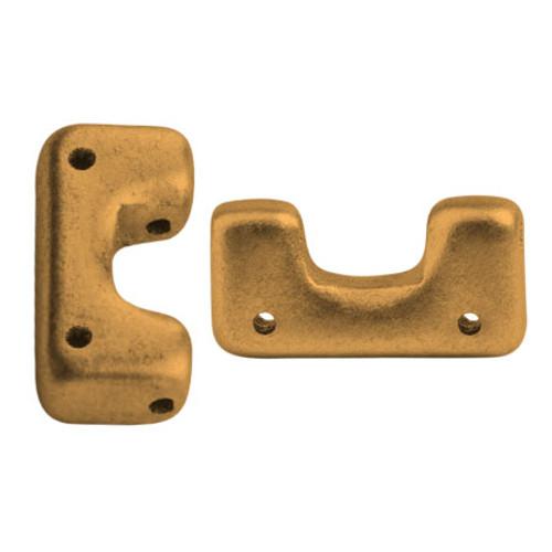 Telos par Puca Beads, Brass Gold (Bronze Gold Matte) (Qty: 10)