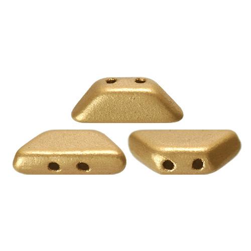 Tinos par Puca Beads, Aztec Gold (Light Gold Matte) (4 x 10mm)  (Qty: 10)