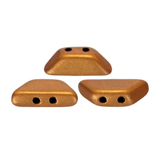 Tinos par Puca Beads, Brass Gold (Bronze Gold Matte) (4 x 10mm) (Qty: 10)