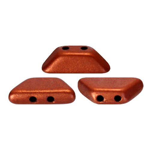Tinos par Puca Beads, Copper (Bronze Red Matte) (4 x 10mm)  (Qty: 10)