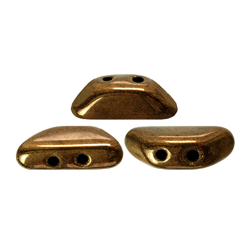 Tinos par Puca Beads, Dark Gold Bronze (4 x 10mm) (Qty: 10)