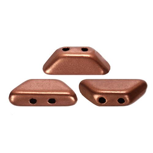 Tinos par Puca Beads, Vintage Copper (Copper Gold Matte) (4 x 10mm) (Qty: 10)