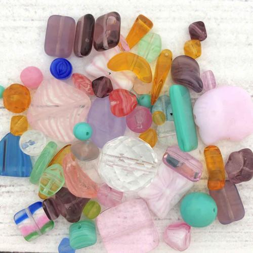 Czech Glass Bead Mix, Spring (60 gr.)