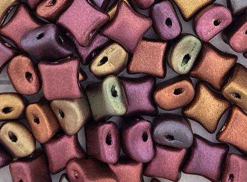 WibeDuo Beads, Purple Iris Gold, 8 x 8mm (Qty: 25)