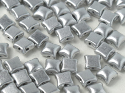 WibeDuo Beads, Aluminum Silver, 8 x 8mm (Qty: 25)