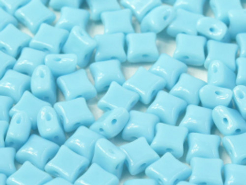 WibeDuo Beads, Blue Turquoise, 8 x 8mm (Qty: 25)